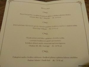 Sváteční sobotní večeře a její menu